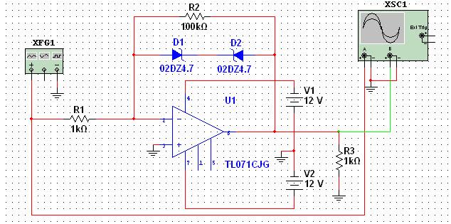 """Circuito Operacional : Electronica trabajo práctico n° """"aplicaciones no"""