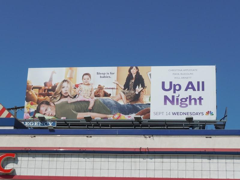 Up All Night TV billboard