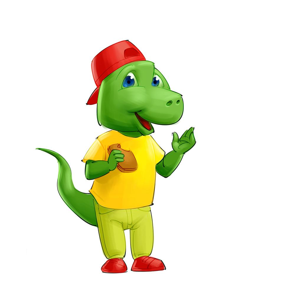 dinosaur mascot design