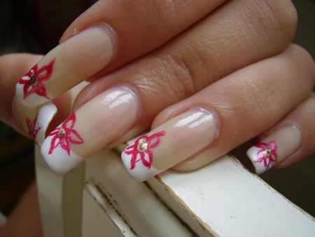 acrylic nail art design - cute