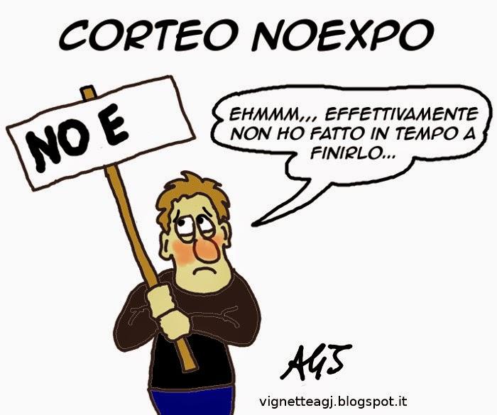 expo, noexpo, ritardi, satira , vignetta