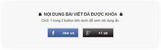 Code hiện nội dung khi nhấn Like +1 cho website - blogspot
