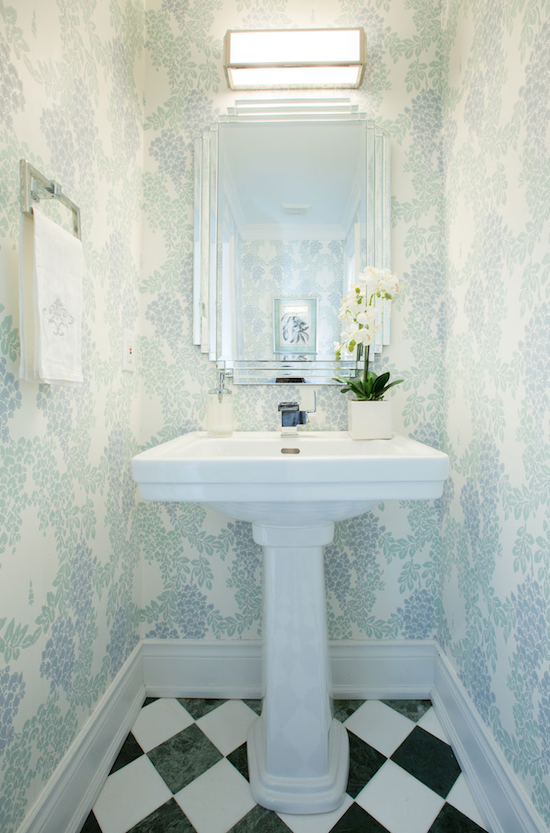 The zhush style stalking flax designs for Wallpaper for small powder room
