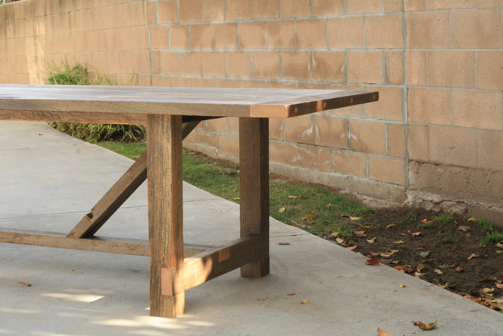 Arbor exchange reclaimed wood furniture 12 foot outdoor for 12 ft table