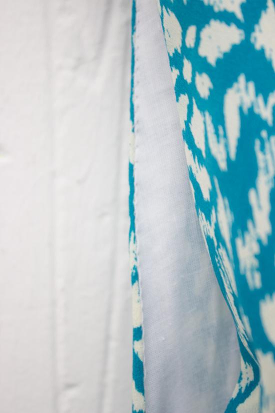 DIY summer dress pattern slip stitched sleeves