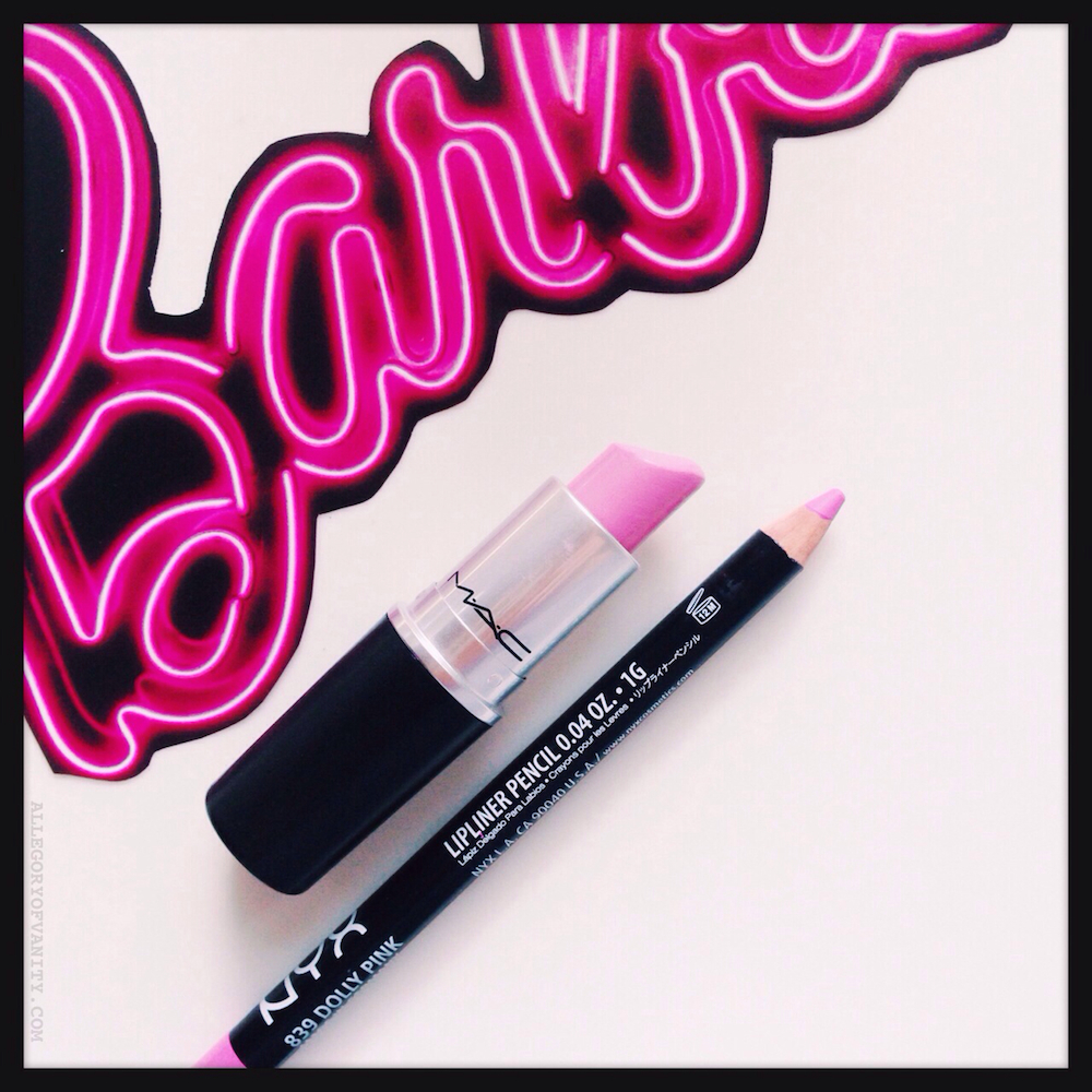 Barbie Lip Combo || MAC Saint Germain + NYX Dolly Pink || Allegory of Vanity