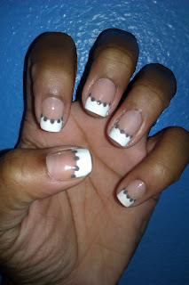 French tip, white tip, frenchie, Julep, Meryl, simple, conservative. nail art, mani