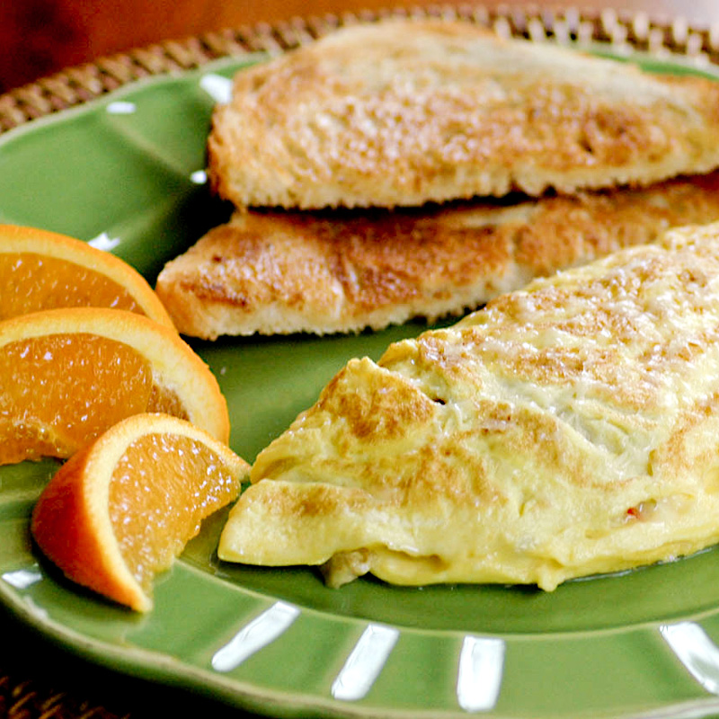 Swiss Cheese and Olive Omelette