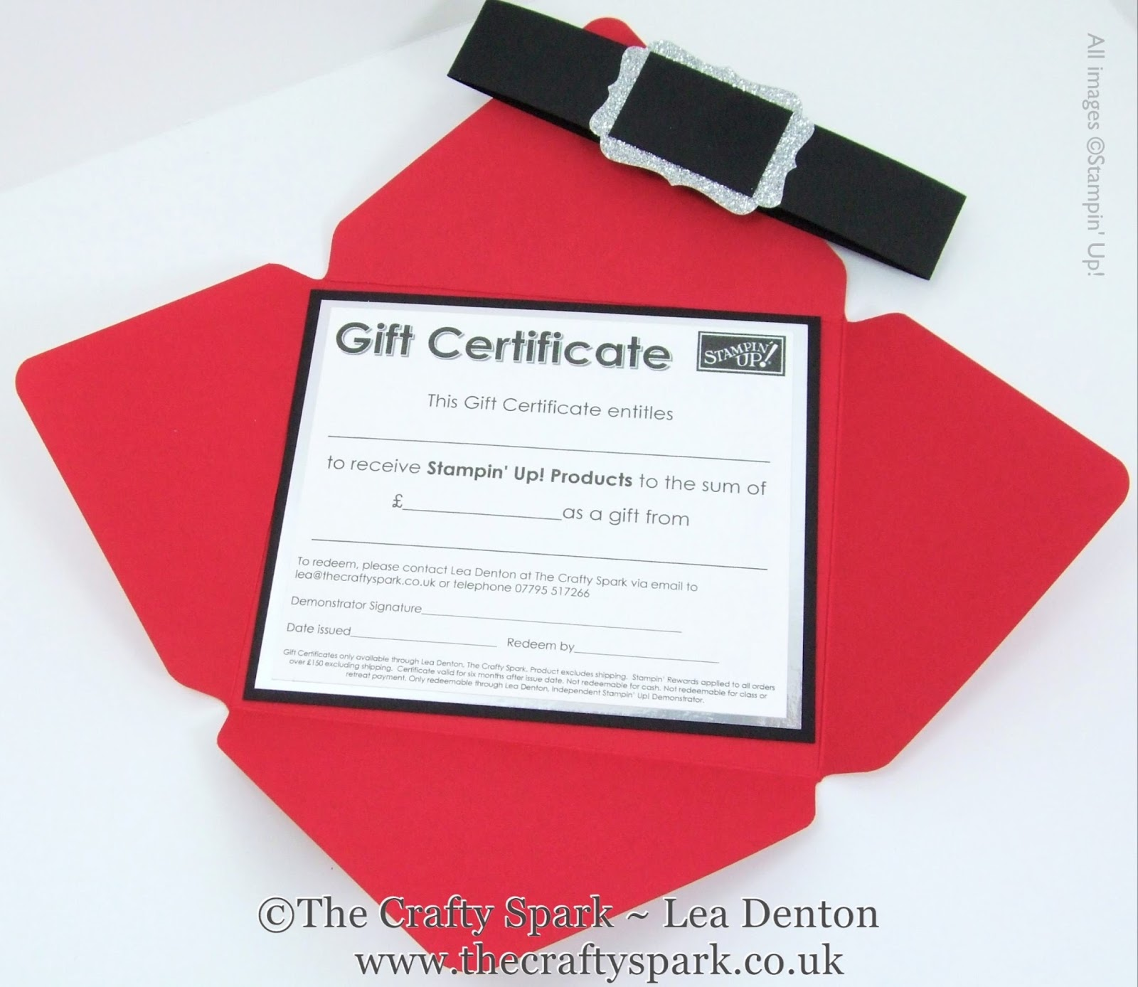 gift card certificate voucher the crafty spark open the tin and you ll your beautiful santa envelope a slide off santa belt bellyband inside is your mounted gift certificate that you can