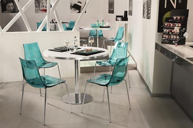 Dolce hogar decora con mobiliario transparente - Sillas metacrilato ikea ...