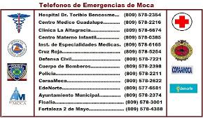 Teléfonosde Emergencias de Moca