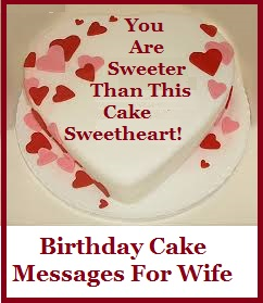 Birthday Cake Wordings Wife