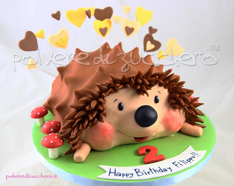 cake design pasta di zucchero torta riccio polvere di zucchero compleanno bimbo