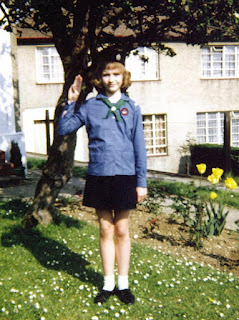 Me in a 70s girl guide uniform