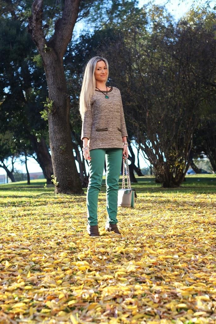 look do dia, blog de moda, Portugal, streestyle, trend, tendências outono inverno 2013 2014, outfit, outono, lisboa, moda mulher, emerald green, verde esmeralda, castanho, creme, animal print, guess, gucci, gold, dourado, outonal, fashion, style statement, ootd, dicas de imagem, consultoria de imagem, first impression, casual chic, fashion blogger