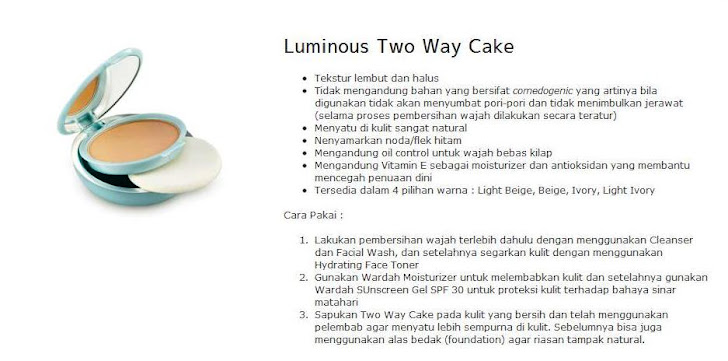 Luminous Two Way Cake - $13