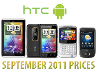 HTC Prices in Saudi Arabia September 2011