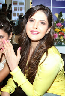 Zarine Khan in lovely Yellow Top at Saloon Luanch Mumbai