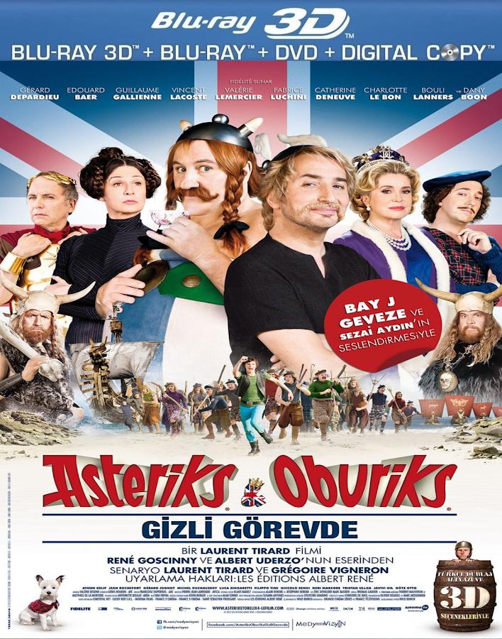 Asteriks ve Oburiks Gizli Görevde - 2012 - 3D Half SBS - 1080p TR HD Kalite indir