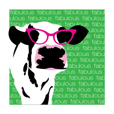 cow with pink glasses fabulous