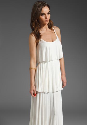 Kourtney Kardashian's white tiered maxi dress – Possessionista ...