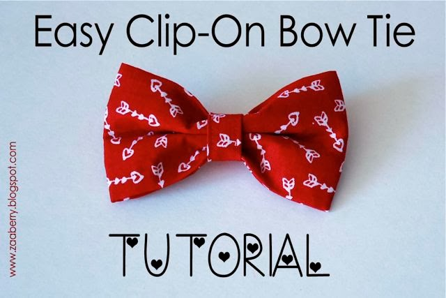 Zaaberry easy clip on bow tie tutorial easy clip on bow tie tutorial ccuart Image collections