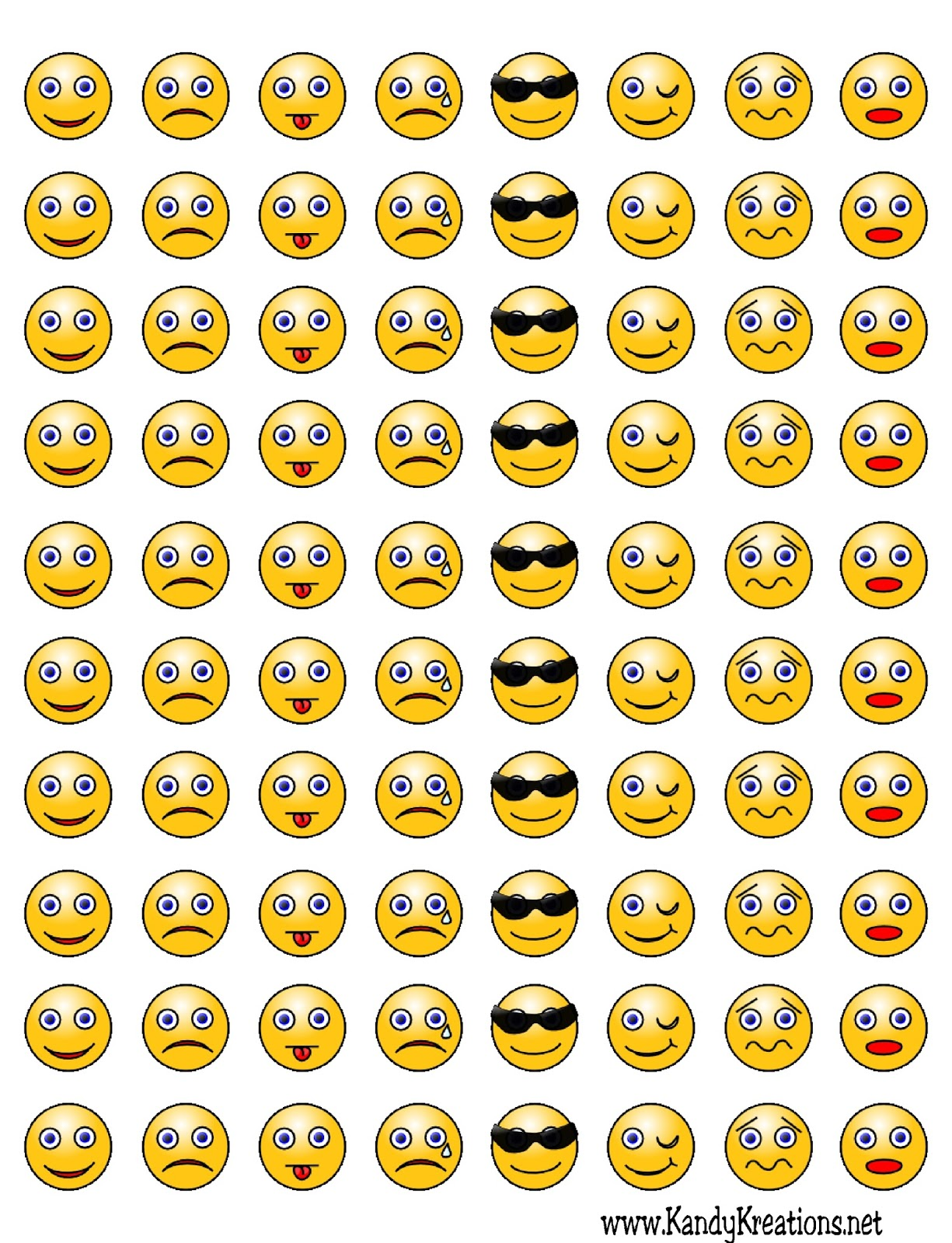 Gargantuan image for printable emoticons free