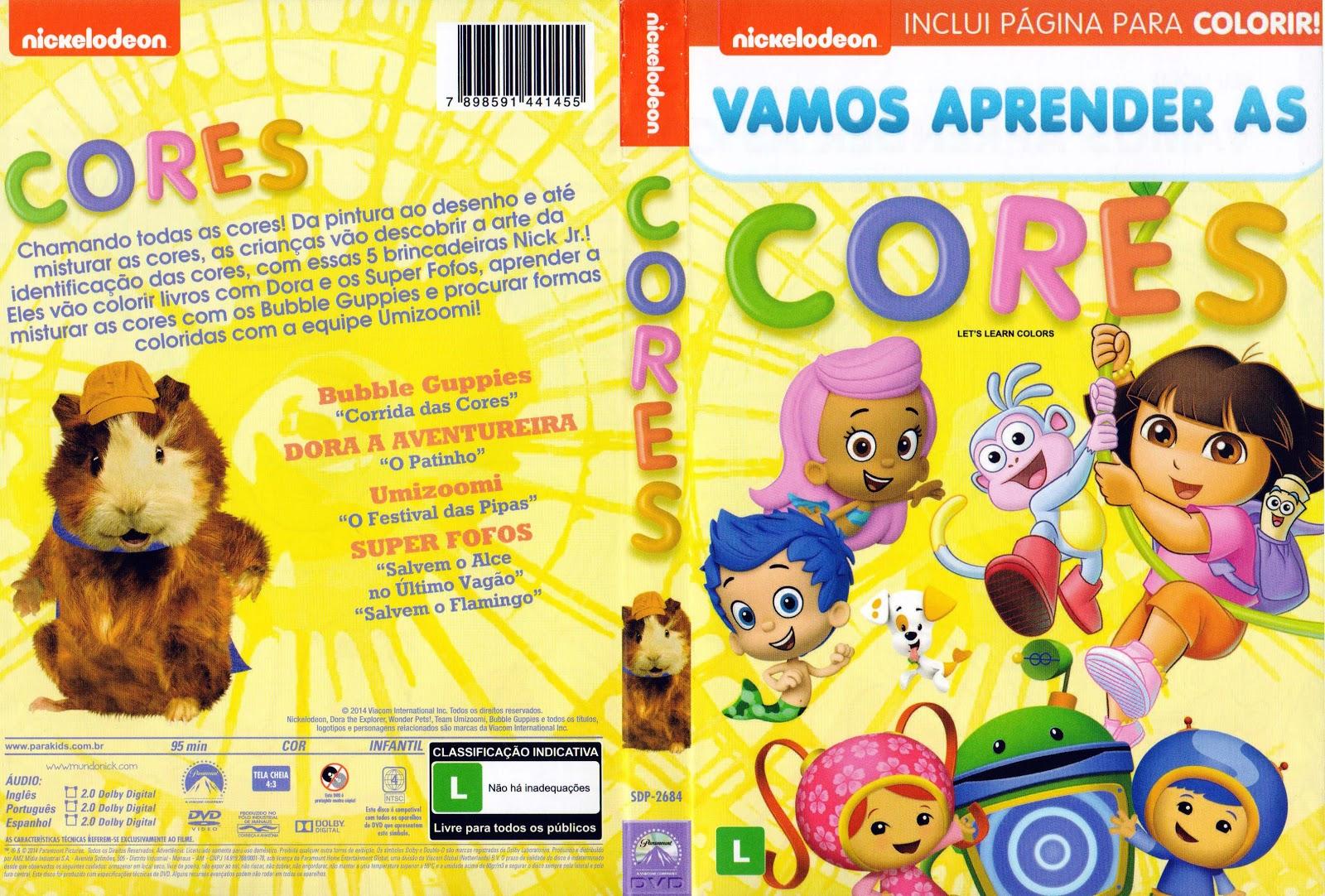 Capa DVD Vamos Aprender As Cores