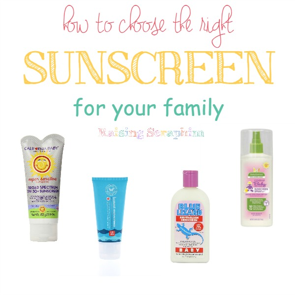 How to choose the best sunscreen for your family. 3 things you should look for when choosing a sunscreen that is safe for your family.