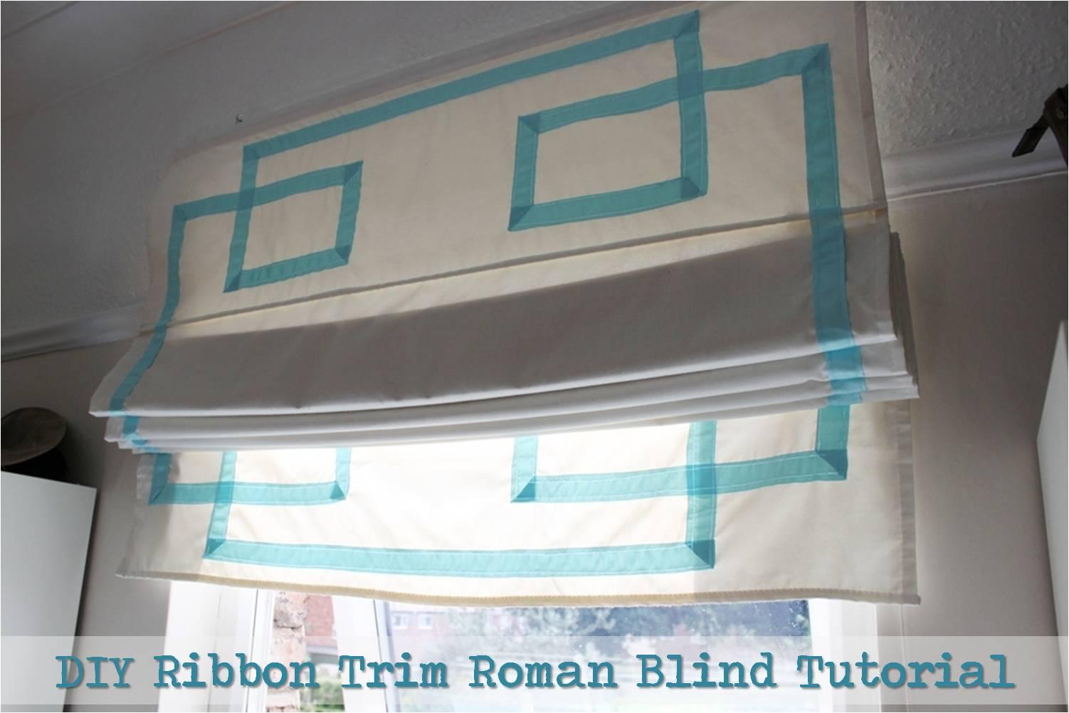 Roman Blind Diy Cheap Easy Before After Diy Ribbon Trim Roman Blind Tutorial