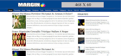 Download Margin Blogger Template