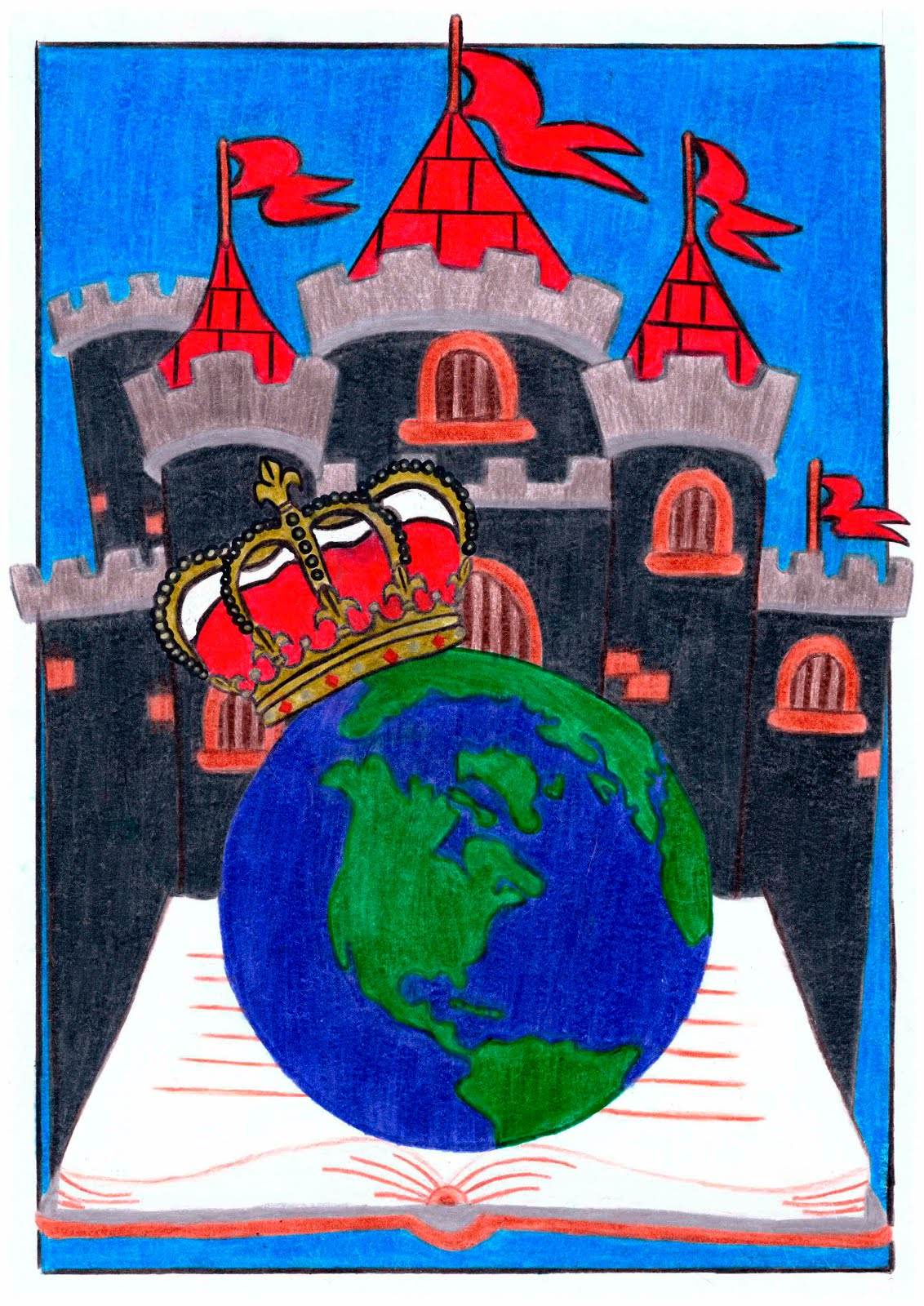 Desenho vencedor do Concurso de Criação do Layout gráfico da 20ª Edição Feira do Livro de Gramado