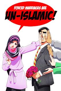 بنت بالحجاب ضد الزواج القسري