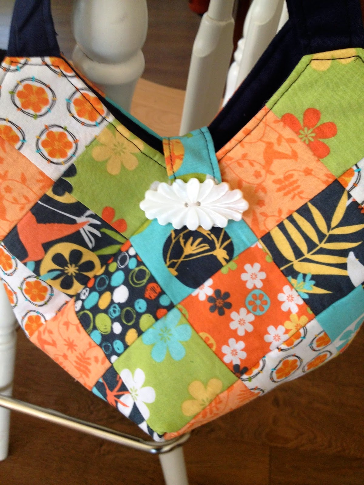button closure on a Quiltsmart Bitty Bag