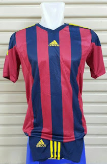 gambar desain terbaru musim depan Setelan futsal Adidas Striped 2016 navy merah di enkosa sport photo kamera