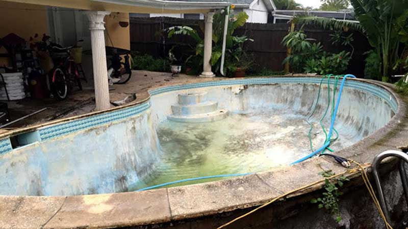 Nothing To Do With Arbroath Family 39 S Swimming Pool Popped Out Of Ground Following Heavy Rain