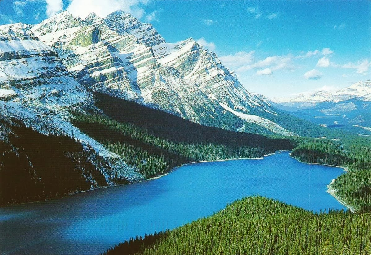 Postcards On My Wall Canadian Rocky Mountain Parks Canada UNESCO
