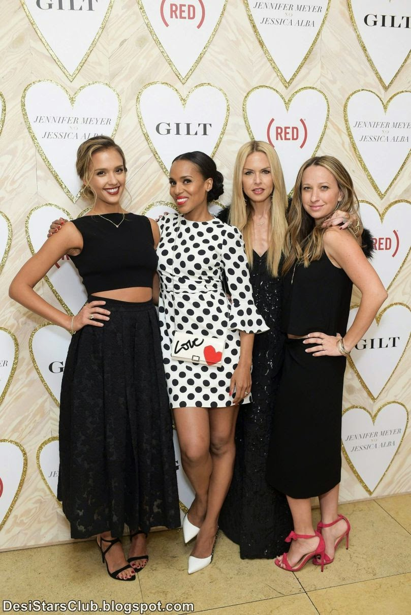 Jessica Alba Looking Gorgeous in Black at The Launch Of Jennifer Meyer xo Jessica Alba