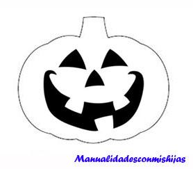 Molde Calabaza de foami para Halloween