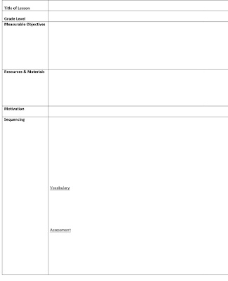 Lesson Plan Template Daily Multiclass Lesson Plan Template