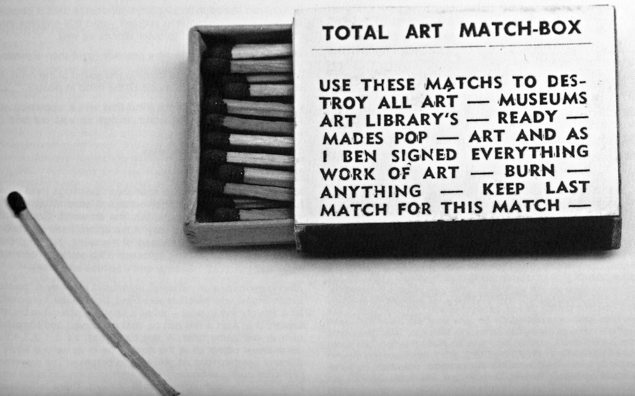 Artists 39 books and multiples ben vautier total art matchbox for Ben vautier