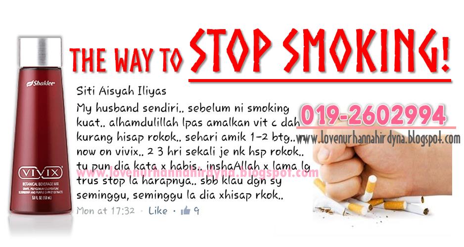cara mudah dan selamat berhenti merokok