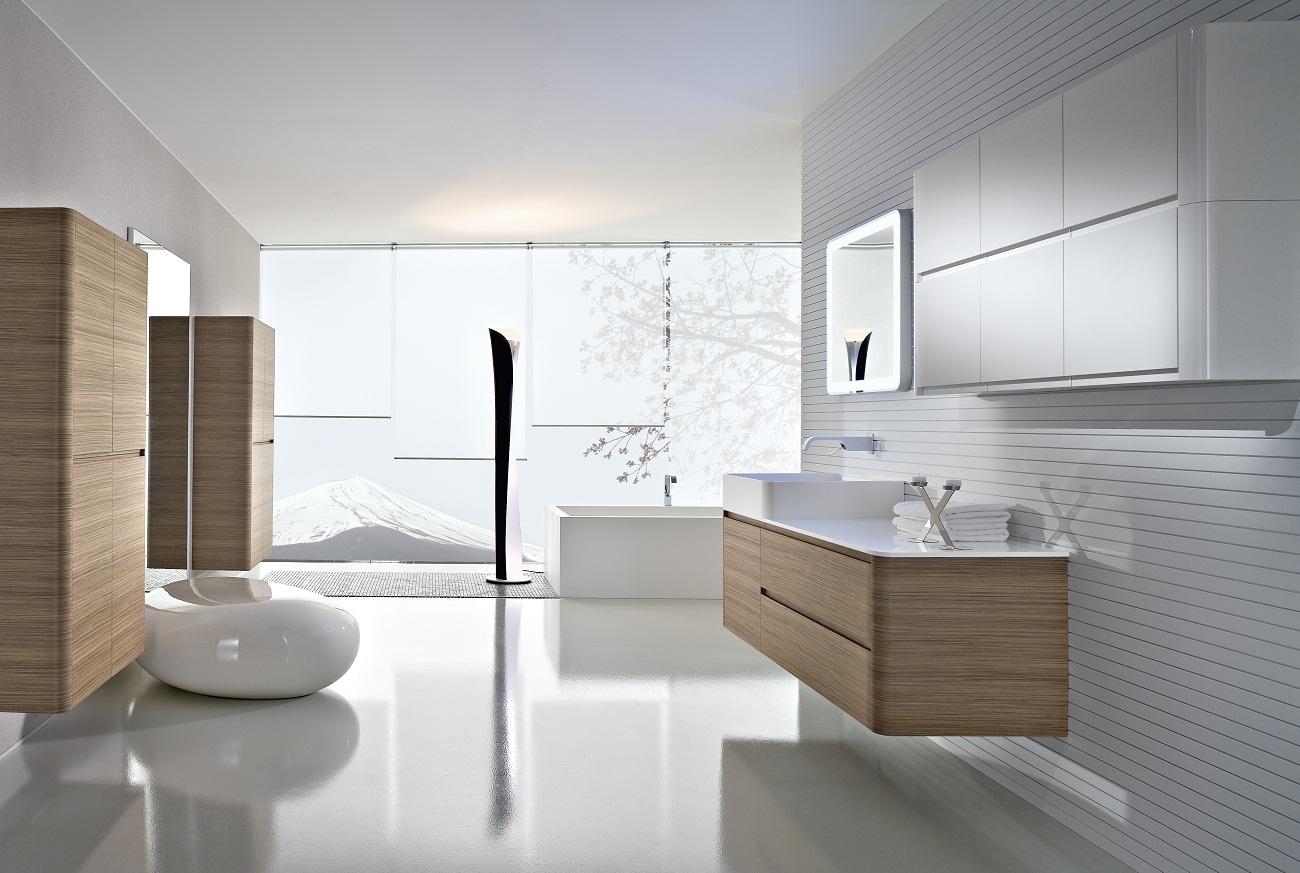 Idéias de design contemporâneo banheiro:casa e imoveis Decoração  #5F4F40 1300 873
