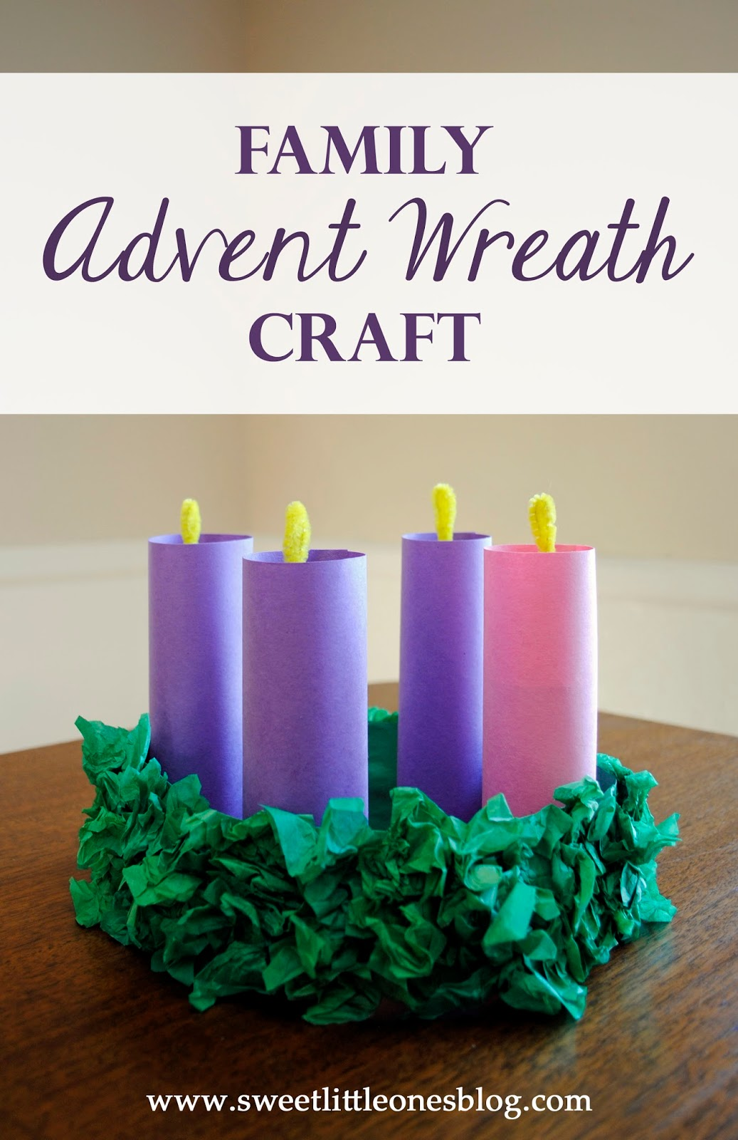 Family advent wreath craft celebrate and prepare for advent and