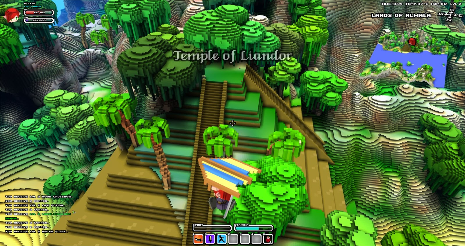 Wollays blog cube world landscape screenshots there are also some screenshots of the 3d world map which is automatically recorded while you explore the world its basically a big version of the gumiabroncs Gallery