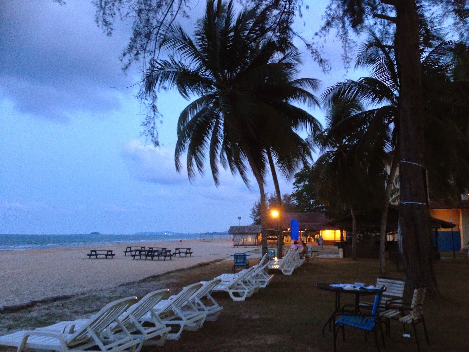 The Legend Resort Cherating Sundeck by the beach