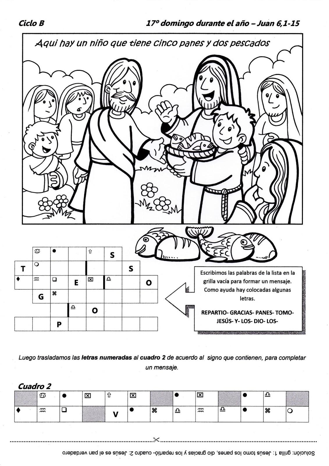 Educar con Jesús: Peces y panes Jn 6,1-15 (TOB17-15)