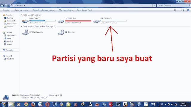 Cara Mudah Membuat Partisi di Windows 7 & 8 Tanpa Instal Ulang
