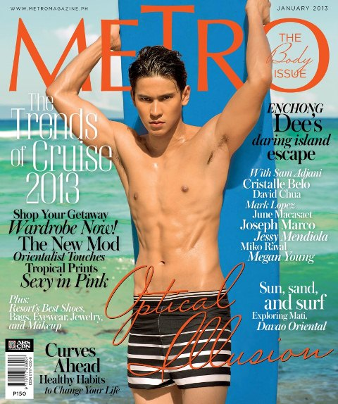 Enchong Dee Covers METRO January 2013 issue