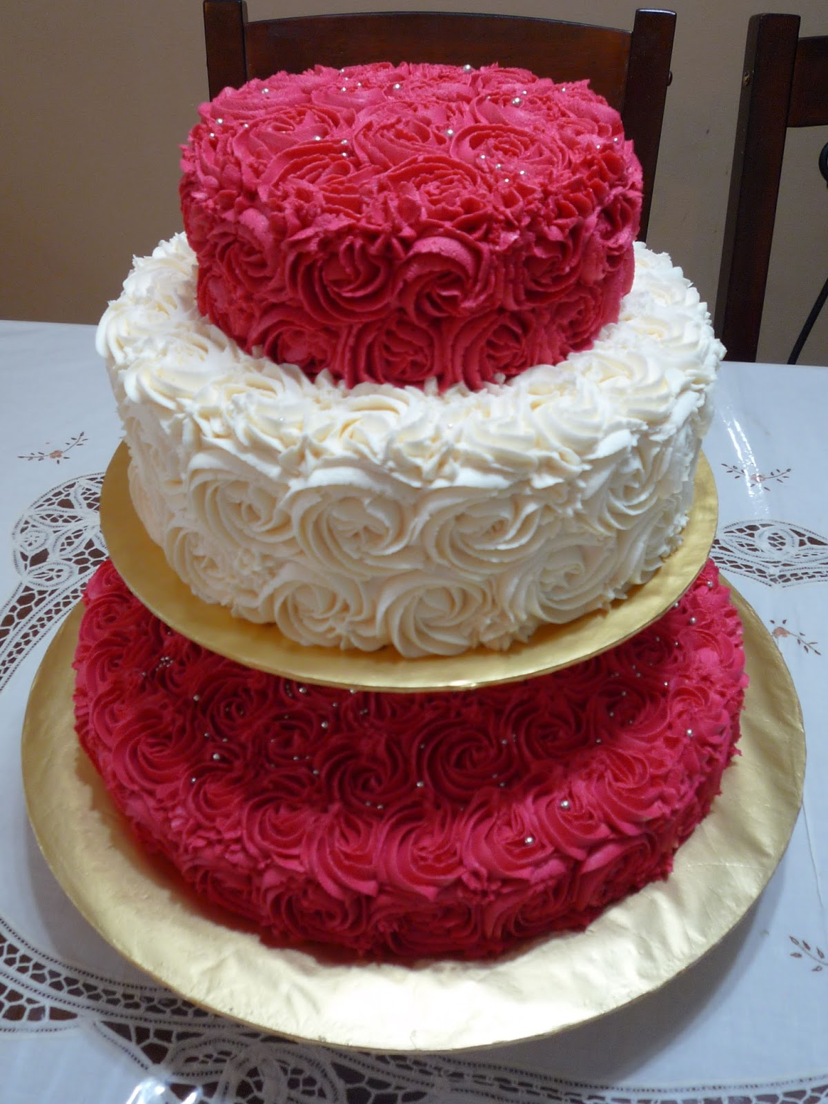 Rose Wedding Reception Cake For En Rafiz
